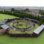 The centre from a drone